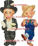 Charlie Mccarthy 1937 Mortimer Snerd Chase Coffee = Poster 10 Sizes 17 - 4.5 Ft