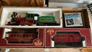 Collection Of Kalamazoo And Lgb G Scale Model Trains, Control, And 50ft Of Track