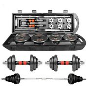50kg Weight Dumbbell Set Adjustable Fitness Gym Home Cast Full Iron Steel Plates