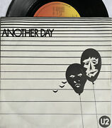 U2 -another Day- Rare Irish 1st Pressing With Uktm Rim Text + Picture Sleeve