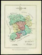 1776 Ireland - Engraved Antique Map Of Queenand039s County With Original Colour