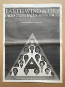 Earth Wind And Fire Faces Poster Sized Original Music Press Advert From 1980 -