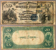 Louisville Ky 20 1882 Db National Bank Note Ch 5195 Southern Nb G/vg