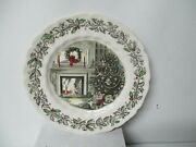 8 Johnson Brothers Merry Christmas 10 5/8 Dinner Plates- No Knife Marks