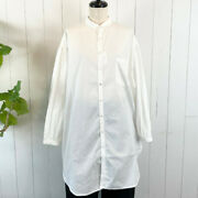 Kapital Broad Button Down Giant Shirt White Long Length Size 1 Unisex Used