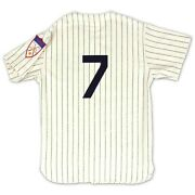 New York Yankees Mickey Mantle 7 Mitchell And Ness 1951 Cream Authentic Jersey