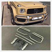 For Mercedes Benz G Class W464 G63 2019 Front Bumper Grille Guard Bodykit Silver