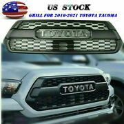 Front Grille For Tacoma Grill 2016-2021 2020 2019 Bumper Hood With Letters