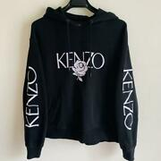 Kenzo Women Hoodie Logo Embroidery Long-sleeve Size S Material 100 Cotton Used