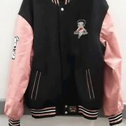 Rare Vintage Betty Boop Jeff Hamilton Leather Jacket Pink And Black No Size Tag
