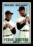 1967 Topps 423 Willie Mays/willie Mccovey Fence Busters Exmt+ X2226665