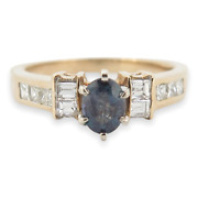 .vintage Natural Alexandrite And Diamond 14k Yellow Gold Ring Size O Val 11000