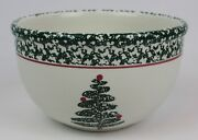 Furio Christmas Tree Sponge Ware Small Mixing Bowl Woodsy Made In Italy 7andrdquo