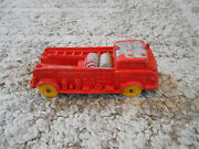 Old Vintage Toy Auburn A.f.d. 3 614 Rubber Fire Department Truck Red Yellow 1