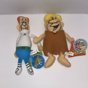 Hanna-barbera The Jetsons George And The Flinstones Barney Stuffed Animal Toy New