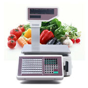 Digital Weight Price Scale 110v 66lb/30kg Computing Food Meat Scale Produce Deli