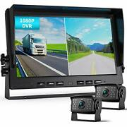 Fookoo Ⅱ Hd 1080p Wired Backup Camera System Kit10 Inch Dual Split Screen Mon...