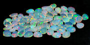 Natural Ethiopian Opal Pear Cabochon 6x8 Mm Size Aaa Fire Opal Loose Gemstone