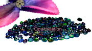 6x4 Mm Natural Ethiopian Black Opal Oval Faceted Aaa Fire Opal Loose Gemstone