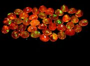 Natural Ethiopian Orange Opal Faceted Aaa Fire Opal Oval Loose Gemstone 10x12 Mm