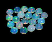 9x9 Mm Natural Ethiopian Opal Cabochon Aaa Fire Opal Round Loose Opal Gemstone