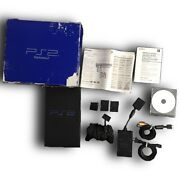 Sony Playstation 2 Set - Console - Controller - Memory Cards - Storage - Manual