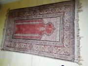Vintage Turkish Oushak Pink/beige And Gray Prayer Rug Apx.size 3and039x5and039. Excellent.