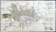 1815 London In Miniature With The Surrounding Villages Folded Map Mogg Fm119