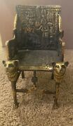 Vintage Small Brass Egyption Chair