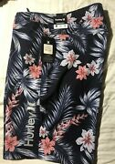 """Nwt Hurley Mens Board Surf Shorts Swimsuit Size 32 Msrp 45 20"""" Length"""
