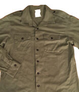 British Army Od Green Spence Bryson General Service Shirt Size 44-46 Tapered