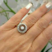 Victorian Edwardian Antique Incredible Ring 14k White Gold Over 1.10 Ct Diamond