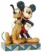 Disney Traditions By Jim Shore Mickey Mouse And Pluto Stone Resin Figurine