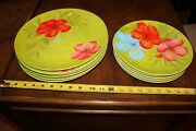 12 Laurie Gates Floral Melamine Plates 6 Dinner 11andrsquoandrsquo And 6 Luncheon 9 Salad Plate