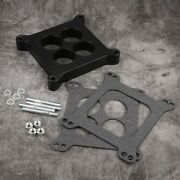 1 Ported Phenolic Carburetor Spacer 4bbl Bbc Bb Fits For S Components