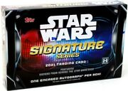 2021 Topps Star Wars Signature Series 20 Box Case Blowout Cards