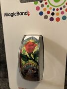 Disney Parks Magic Band 2 Beauty And Beast Rose Stained Glass White Magic Band