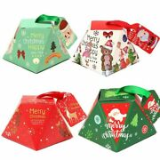 Christmas Gift Boxes Candy Packaging Paper Bags Ribbon Favor Home Decorations