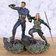 Captain America And Black Widow Action Figures Avengers Pvc Collectible Model Toy