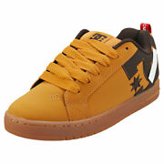Dc Shoes Court Graffik Se Mens Wheat Leather And Synthetic Skate Trainers