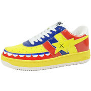 A Bathing Ape Kaws Bapesta Sneakers Red Us 10 New