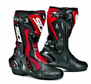 Sidi St Mens Motorcycle Boots Black Red Ce Mens Womens