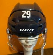 Nathan Mackinnon Game Used 20-21 3rd Jersey Helmet Colorado Avalanche Team Holo