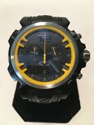 Double Tap Custom Yellow Silver Dial