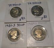 Susan B Anthony Proof Dollar 1979 1980 2 Of Each Date San Francisco Mint