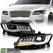 2018-2020 Lincoln Mkz W/ Afs Full Led Projector Headlights Headlamps Left+right