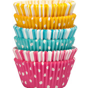 Dots And Stripes Cupcake Lin 1ers, 150-count