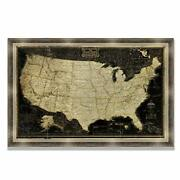 World Travel Map Wall Art Collection Vintage Executive National Geographic Us...