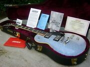♚under The Bed♚gretsch G-6228 Pro Players Edition Jet♚silver Sparkle♚blocks♚7.7