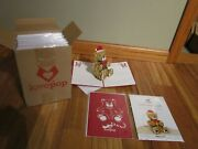 Lot Of 24 Lovepop 3d Pop - Up Christmas Bear Greeting Cards New / Sealed Br